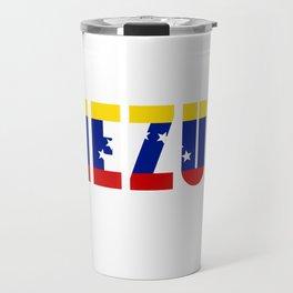 Venezuela Lettering Travel Mug