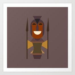 African Warrior Woman Art Art Print