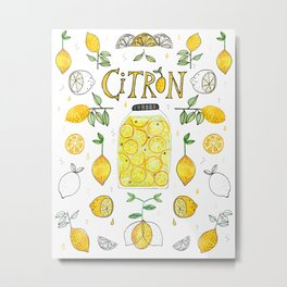 Citron Metal Print