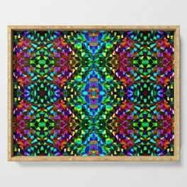 Glittering Kaleidoscope Mosaic Pattern Serving Tray