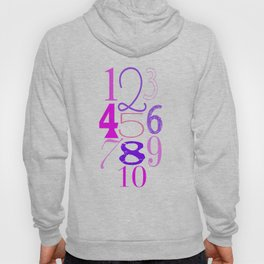 Numbers 1,2,3 Girl Hoody