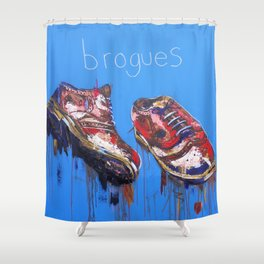 Brogues Shower Curtain