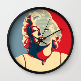 marylin Monroe affiche Wall Clock