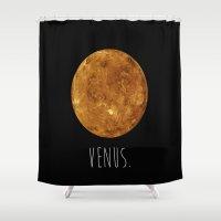 venus Shower Curtains featuring Venus by Et Voilà