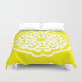 Golden Yellow Asian Moods Mandalla Duvet Cover