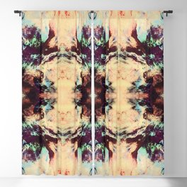Abstract Colorful Batik Butterfly Pattern Blackout Curtain