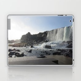 Iceland Golden Circle Stop - Waterfall Laptop & iPad Skin