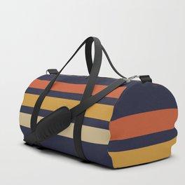 Vintage Retro Stripes Duffle Bag