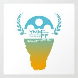 YMMiFF 2015 - BUFFALO HEAD DESIGN Art Print