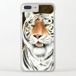 Silent Stalker - Tiger Clear iPhone Case