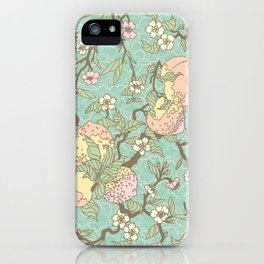 Peaches and Blossoms iPhone Case