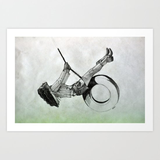 I just ride. Art Print