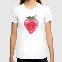 strawberry T-shirts featuring Strawberry by Ornaart