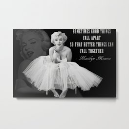 Ma-rilyn Monroe Ballerina Poster, Quality Print, American icon, actress, Vintage Art Photography, Home Décor, Wall Ar Metal Print
