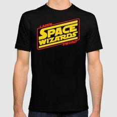 LASER SWORD SPACE WIZARDS MEDIUM Black Mens Fitted Tee