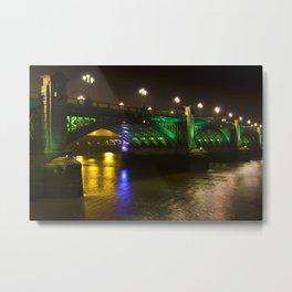 The Southwark Bridge at night Metal Print