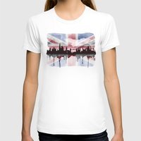 british flag T-shirts featuring Great British Flag London Skyline 2 by Paint the Moment