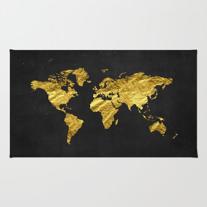 Black gold decor gold world map office decor bathroom glam black gold decor gold world map office decor bathroom glam black gumiabroncs Gallery
