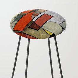 Falling Industrial Counter Stool