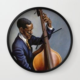 Classical Masterpiece 'Portrait of a Musician' by Thomas Hart Benton Wall Clock