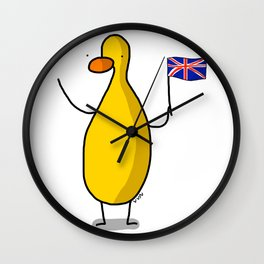 Duck with Union Jack Wall Clock