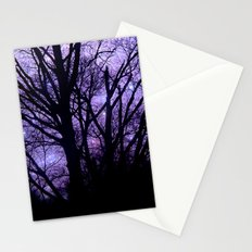 Purple Starry  Halloween Stationery Cards