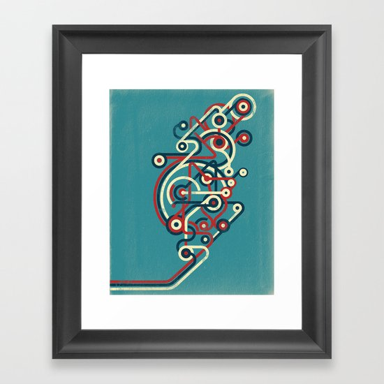 Interconnected Framed Art Print
