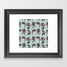 Botanical Florals   Vintage Raspberry Framed Art Print