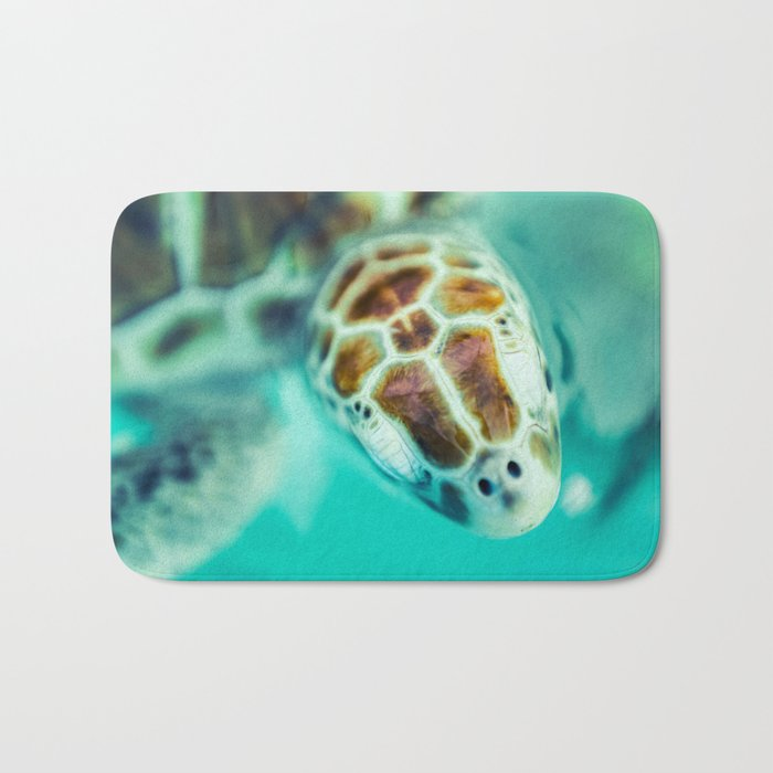 Cute Little Sea Turtle Bath Mat