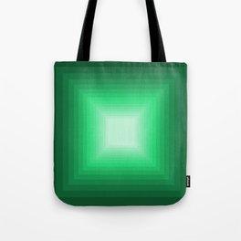 Green Square Gradient Tote Bag