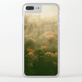 Clouds Caught in Trees Clear iPhone Case