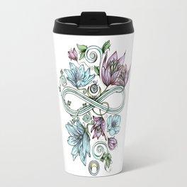 Infinity Moon Garden in Pastel Travel Mug