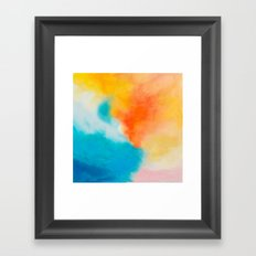 Endless Summer Abstract Painting Framed Art Print
