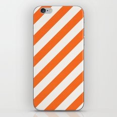 diagonal - orange iPhone Skin