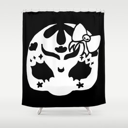 ▴ skull ▴ Shower Curtain
