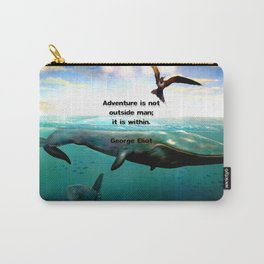 Adventure Wisdom Quotation With Underwater Scene Painting Carry-All Pouch