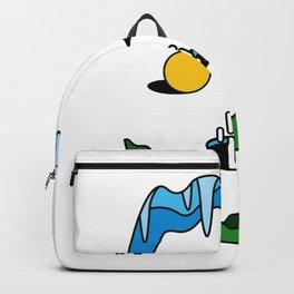 Skull - Retro Geometric Poster Backpack