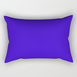 Blue - solid color Rectangular Pillow