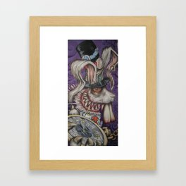 mad hatter your late .... Framed Art Print