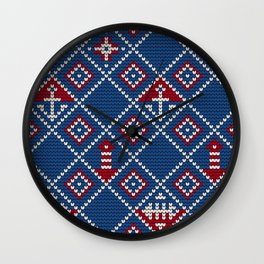 Grandma's knitting pattern for Saylor's Ugly sweater Wall Clock