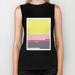 Girl with Hair Ribbon (Roy Lichtenstein) color-sorted Biker Tank
