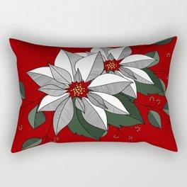 Holiday Flowers Rectangular Pillow