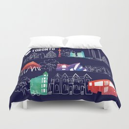 I heart Toronto (navy) Duvet Cover