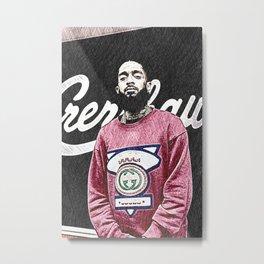 Society6 Rap Legends StreetArt - Stylin' 101 - Hussle Art - Nipsey - L.A. Metal Print