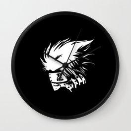 White Anime Hero Character Wall Clock