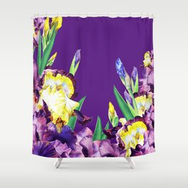 Iris Flowers Shower Curtain