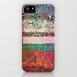 GLITCH 6 - I think I saw you on tv iPhone Case