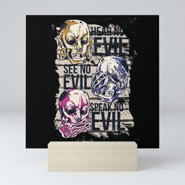 NO EVIL Mini Art Print