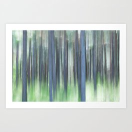 Painted Trees Art Print