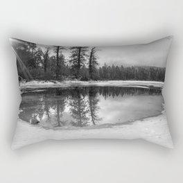 Sun Rays on a Melting Lake Rectangular Pillow